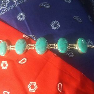 Genuine Turquoise Sterling Bracelet for Sale in Sioux Falls, SD