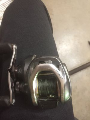 Baitcasting fishing reel and rod!! for Sale in Pompano Beach, FL