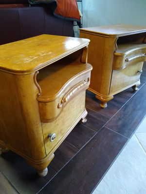 Antique bedside tables. Found in Czech Republic. Art nouveau style. for Sale in FX STATION, VA