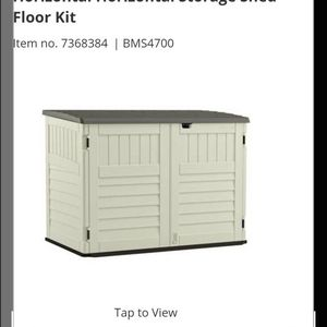 Suncast The Stow-Away White Plastic Horizontal Horizontal Storage Shed Floor Kit for Sale in Montebello, CA