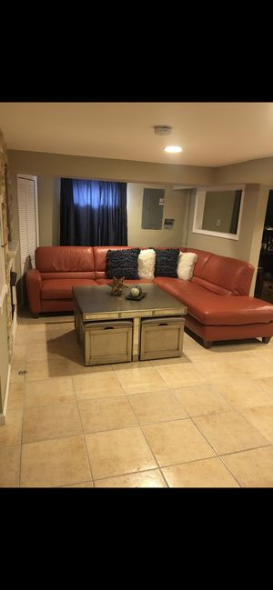 Rust Sectional Couch for Sale in Franklin Township, NJ