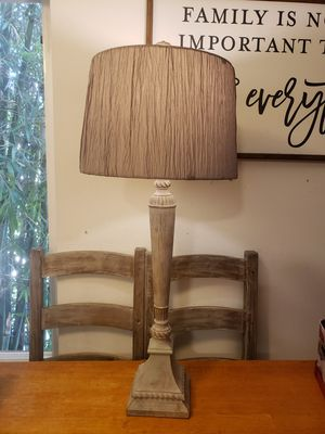 Cream shabby chic lamp with shade for Sale in Glendale, CA