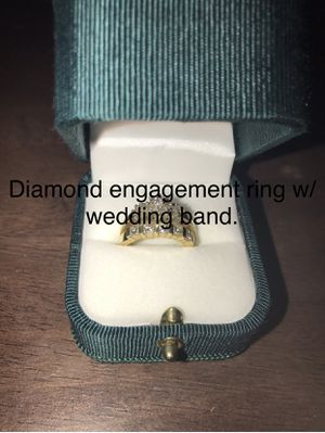 14k diamond engagement ring and wedding band for Sale in Easton, MD