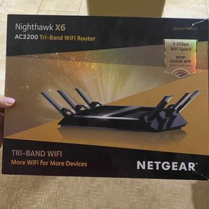 NETGEAR - Nighthawk X6 AC3200 Tri-Band Wi-Fi 5 Router - Black for Sale in San Diego, CA