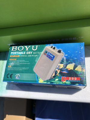 Portable dry battery - aquatic animal air pump for Sale in Corona, CA