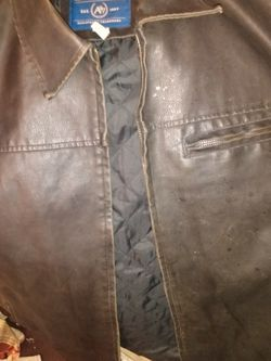 Aeropostale Men's Large Leather Jacket for Sale in Murfreesboro,  TN