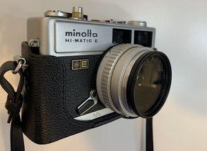 Vintage Minolta Hi-Matic E 40mm f/1.7 Rangefinder Film Camera & Leather Case. for Sale in Norco, CA
