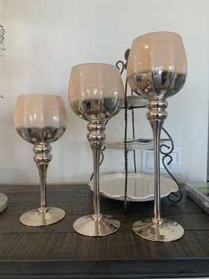 Set of 3 candleholders for Sale in Menifee, CA