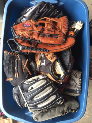 Baseball and softball gloves for Sale in Indianapolis, IN