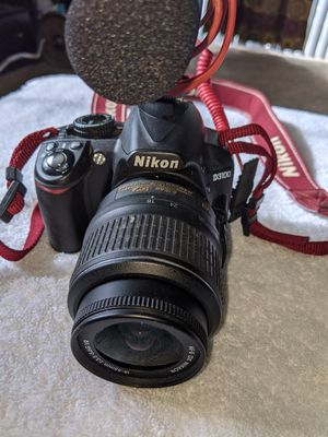 Nikon D3100 with DX 18-55mm lens and RODE mike for Sale in Blacklick, OH