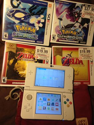 New Nintendo 3ds with 4 games and charger + Nintendo bag for Sale in Houston, TX