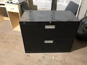 Black two drawer file cabinet for Sale in North Miami, FL