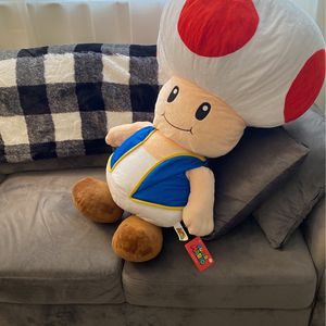 Giant Toad Nintendo Super Mario Plush With Tags for Sale in Clearwater, FL