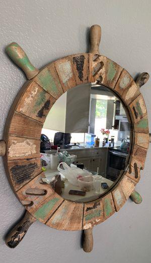 Ship wheel mirror for Sale in Kent, WA