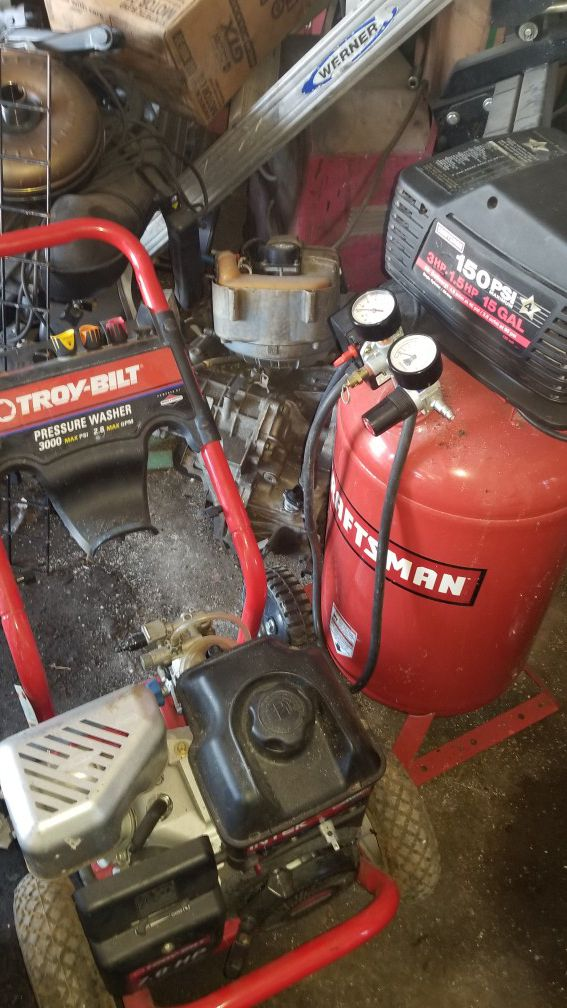 Pressure washer & air compressor