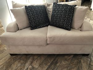 Tan, Cozy, Like New Over-sized Chair and Couch Set for Sale in League City, TX