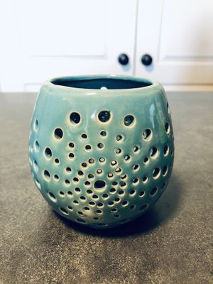 Blue candle holder for Sale in Rexburg, ID