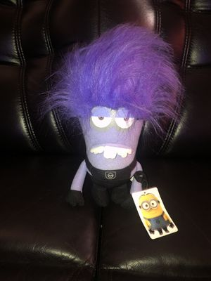 "Despicable Me 2 Evil Minion 11"" Plush Two Eye Minion Stuffed Plushie Purple NWT for Sale in Hayward, CA"