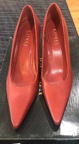 "Ralph Lauren 9.5, 3"" high heel, red (used good condition) for Sale in Oakton, VA"