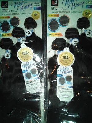 "BOBBI BOSS WET & WAVY 10A 100% UNPROCESSED HUMAN HAIR 3PIECE 16"" 18"" 20"" DEEP WAVE for Sale in Lancaster, TX"