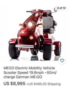Strong electric scooter heavy duty made in germaney very fast and 50 mile from one single charge brand new batteries for Sale in Tampa, FL