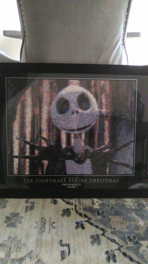 Nightmare Before Christmas Jack Mosaic photo in frame for Sale in North Las Vegas, NV