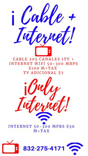 Cable internet wifi for Sale in Houston, TX