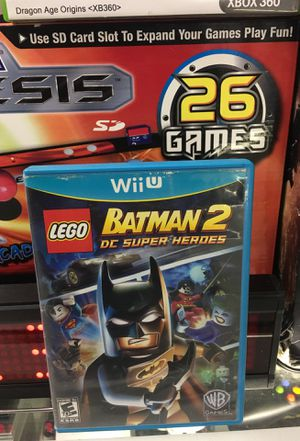 Nintendo Wii U lego Batman 2 D.C. Super heroes used good condition pick up in panorama city for Sale in Los Angeles, CA