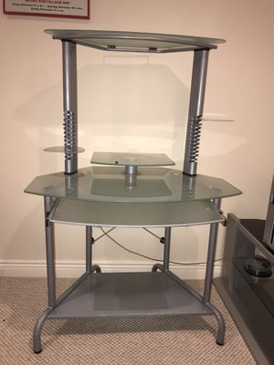 Frosted Glass Computer Desk for Sale in North Caldwell, NJ