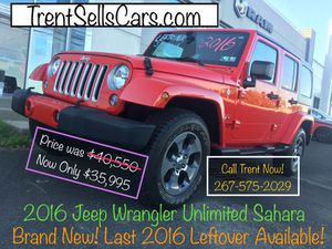 2016 Jeep Wrangler Unlimited Saharan! Brand New! Last Leftover! $2675752029@ Call Trent Now! for Sale in Langhorne, PA