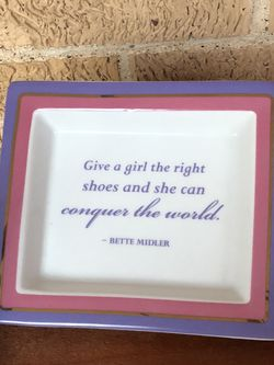 Two's Company Bette Midler Quote Accent Dish Trinket Tray for Sale in Dallas,  TX