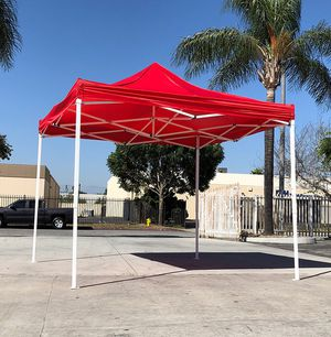New $90 Red 10x10 Ft Outdoor Ez Pop Up Wedding Party Tent Patio Canopy Sunshade Shelter w/Bag for Sale in South El Monte, CA