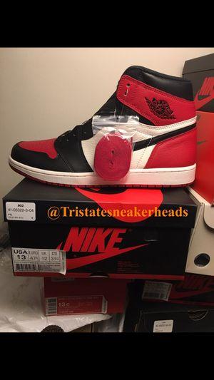 """Jordan Retro 1 """"Bred Toe 1's Men's Size 13 for Sale in New York, NY"""