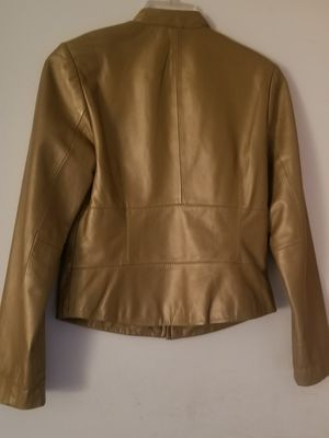 Yvonne & Marie Size 4 Lamb Leather Golden Beige Jacket for Sale in Fort Lauderdale, FL