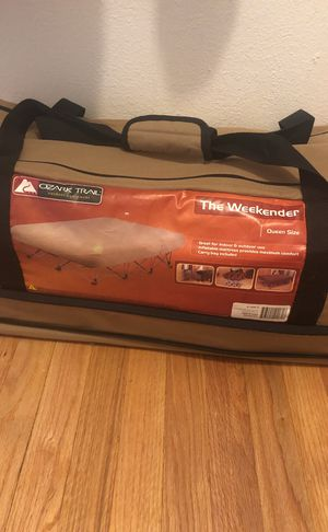 "Ozark Trail - ""The Weekender"" queen air mattress w/ cot for Sale in Seattle, WA"