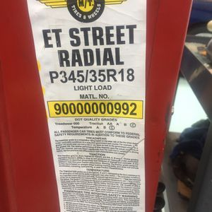 PAIR Mickey Thompson ET Radial Street Tires #3484 for Sale in Tuscola, TX