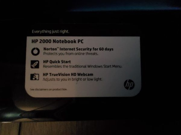 Hp 2000 Windows 10 Used But No Damage With Charger