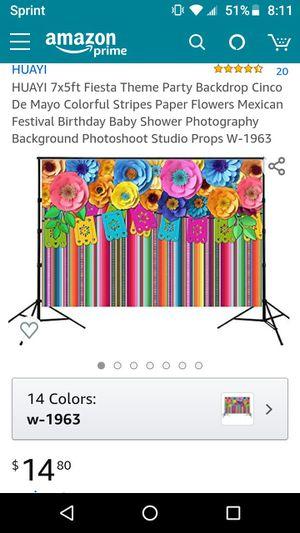 Fiesta theme backdrop. Like New $10 for Sale in Clovis, CA