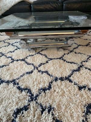 Modern/Glam Square Glass Coffee Table for Sale in St. Louis, MO
