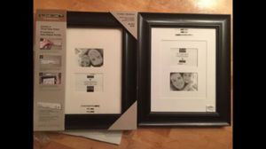 2 11x14 picture frames with mats (2 8x10s or 4 3x5s) for Sale in Renton, WA
