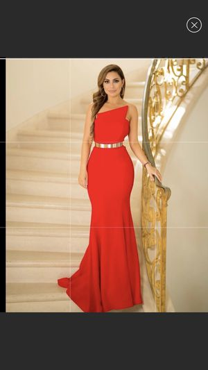 Haute couture, long red dress for Sale in Los Angeles, CA