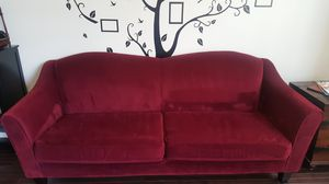 Pier One Red Berry Couch for Sale in Clarksburg, MD