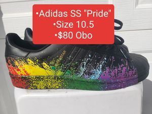 "Men Adidas Superstar ""Pride"" (2016) Size 10.5 $80 Obo for Sale in Tarpon Springs, FL"