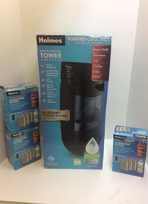 Holmes purified cool mist humidifier Tower model new in the box for Sale in Pompano Beach, FL