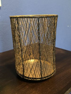 Gold & Black Wire candle holder for Sale in Austin, TX