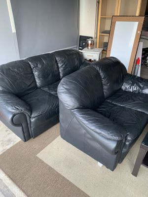 Black Sofa Couch Set With Coffee for Sale in Garden Grove, CA