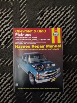 Chevrolet/gmc repair manual for Sale in University Place, WA