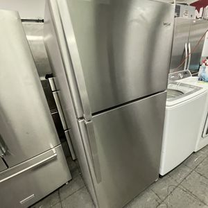 Stainless Steel Whirlpool Top Freezer For Only $550 for Sale in Mission Viejo, CA