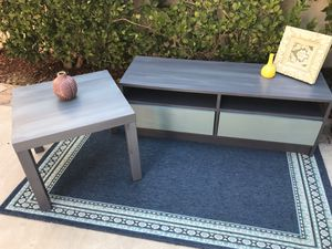 TV stand and side table set - two drawers storage cabinet/ side table accent furniture- Carmel Valley 92130 for Sale in San Diego, CA