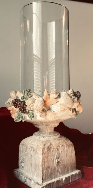 Beautiful shells decorated candle holder H13xW7 inch Lbs 2.1 for Sale in Chandler, AZ